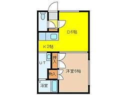 KsハイツI[2階]の間取り