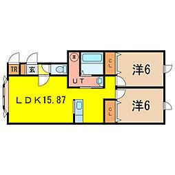 コムハウス永山[1階]の間取り