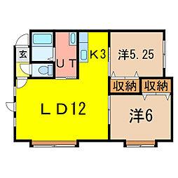 フレンズ3・1[2階]の間取り