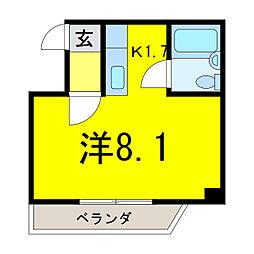 パンシオンSAM[2階]の間取り