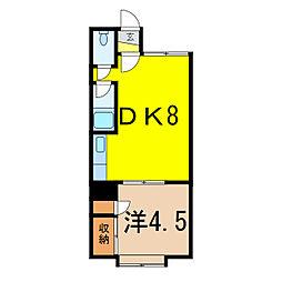 ウッデイハウスB[2階]の間取り