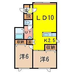 アルト9[1階]の間取り