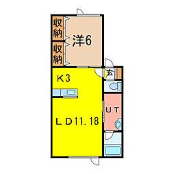 永山ウエルカム 5号棟[2階]の間取り