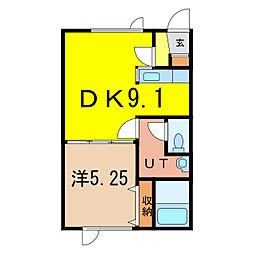 ポポロハイツ B[2階]の間取り