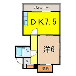 レジデンス5条(5-7)[3階]の間取り