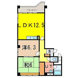 ロジェ111B[3階]の間取り