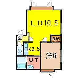 南1-25 新築[1階]の間取り