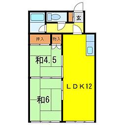 旭川駅前ビルマンション[8階]の間取り