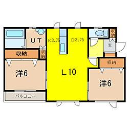 アジアートII[3階]の間取り