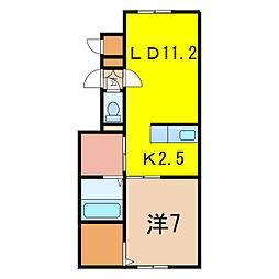 グレースII[2階]の間取り