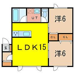 CASA RKII[1階]の間取り
