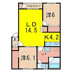 グランデ29[3階]の間取り