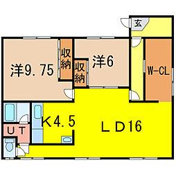 アパートメント9.4[2階]の間取り