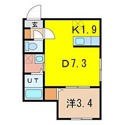 仮称:2条通10丁目MS[4階]の間取り