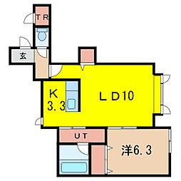 ファミリアB[2階]の間取り