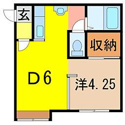 パールセント413[1階]の間取り