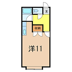 コットンハウス3[1階]の間取り