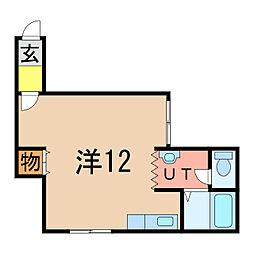 コートプラネットA・B[1階]の間取り