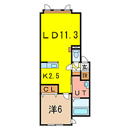 メゾン・ド・ルシャI[1階]の間取り