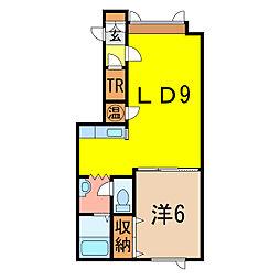 ウッディハウス[1階]の間取り