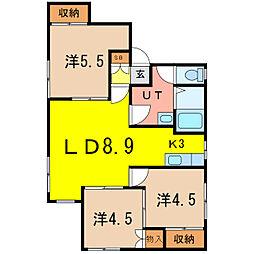 サンワマンション[1階]の間取り