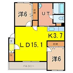 グランデ16[3階]の間取り