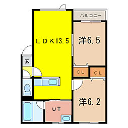 Comfort 4‐5 st[2階]の間取り