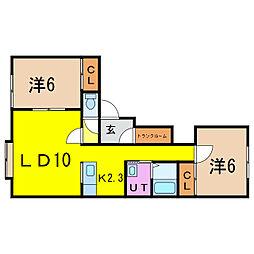 フレンドリーIII[2階]の間取り