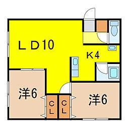 メゾン松田3[1階]の間取り