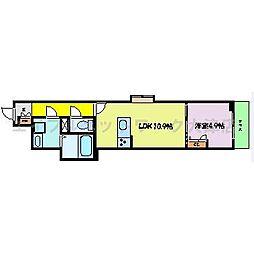 JR東海道・山陽本線 膳所駅 徒歩19分の賃貸アパート 1階1LDKの間取り