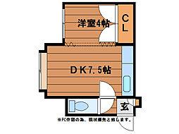 BCBリヨン[2階]の間取り