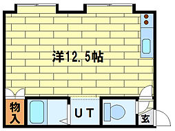 クロスロードII[2階]の間取り