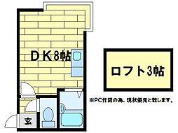 エクセレント澄川[3階]の間取り