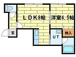 サークルI澄川(A)[2階]の間取り