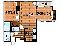 REEF Suite(リーフスイート)[3階]の間取り