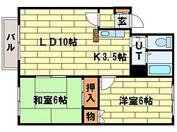クレストール高柳[1階]の間取り