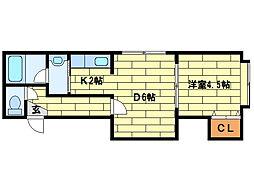 メゾン・ド澄川[202号室]の間取り