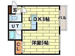 シティクレスト澄川[1階]の間取り
