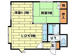 ゾンネ澄川[2階]の間取り