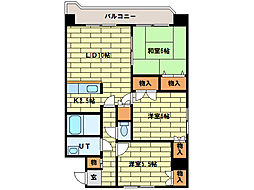ロイヤルレインボー平岸B棟[2階]の間取り