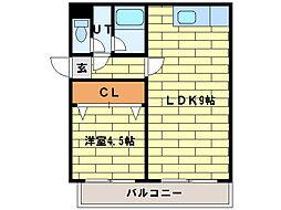 ベルファーレ[3階]の間取り