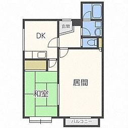 北海道札幌市豊平区西岡五条14丁目の賃貸マンションの間取り