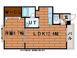 ロイヤルマンション[1階]の間取り