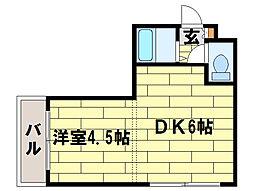 ジュネス札幌[102号室]の間取り