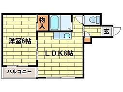 ピースフル澄川[3階]の間取り