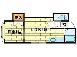 フォレスト澄川[301号室]の間取り