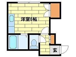 フラワーハイツH・S[2階]の間取り