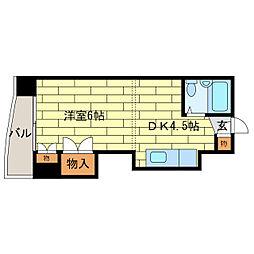 北海道札幌市豊平区平岸四条14丁目の賃貸マンションの間取り