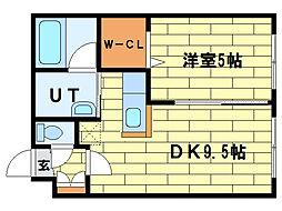 ピュアライフ5-3[4階]の間取り