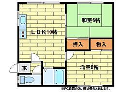 コーポみやび[2階]の間取り